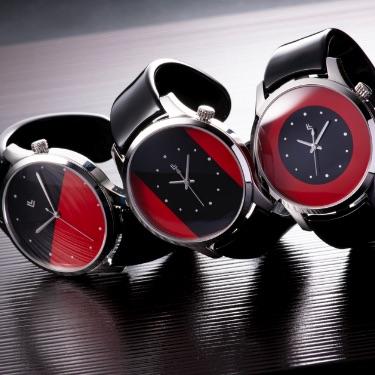 バングルウォッチ ビッグフェイス RED & BLACK